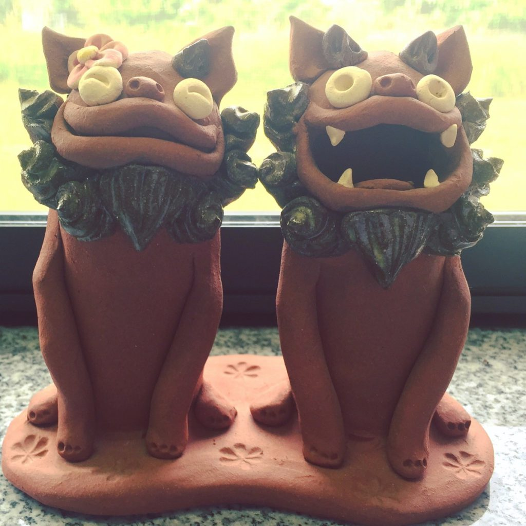 A pair of Shisa Dogs