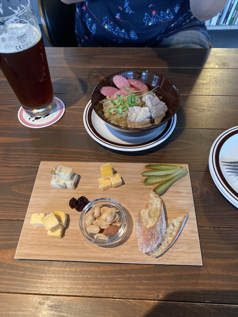 A Cheese plate at Wolfbrau