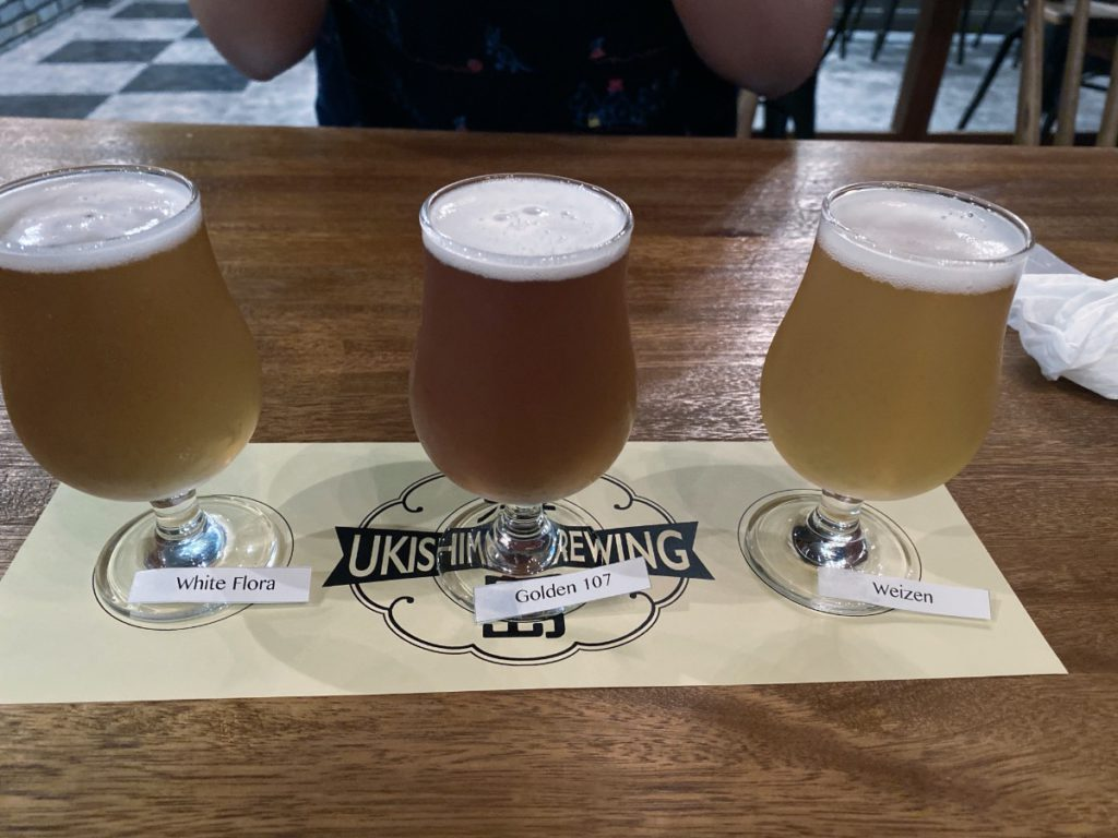 A Beer Flight at Ukishima Brewing
