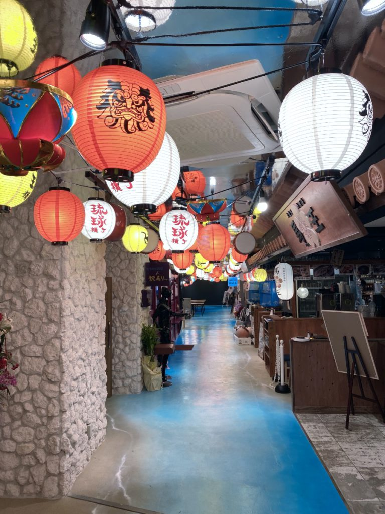 Lanterns in the basement Ramen and Izakaya Floor